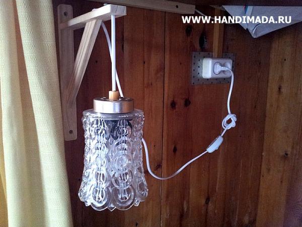 Как сделать настенный светильник бра своими руками 145